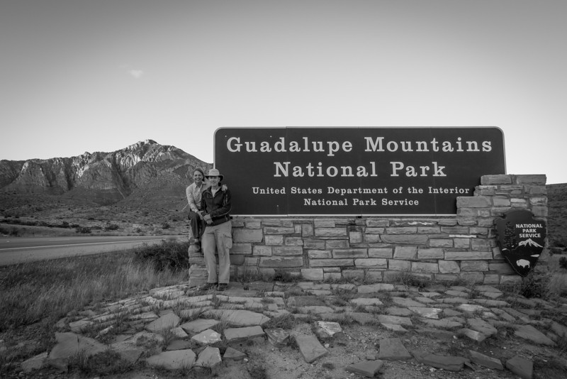 GMNP is located east of El Paso and just south of Carlsbad Caverns NP. It contains the tallest peak in Texas; Guadalupe Peak, 8749 ft.