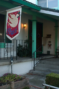 Haven't done much Christmas decorating this year. Just my usual banner with a hope for peace around the world, santa welcoming the mailman daily, and blue and purple jinglebell wreaths on the doors.