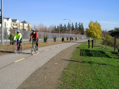 The Guadalupe River Trail is a popular place with bicyclists