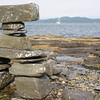 "Someone had constructed an ""Inukshuk"" or wayfinding cairn on the Island."