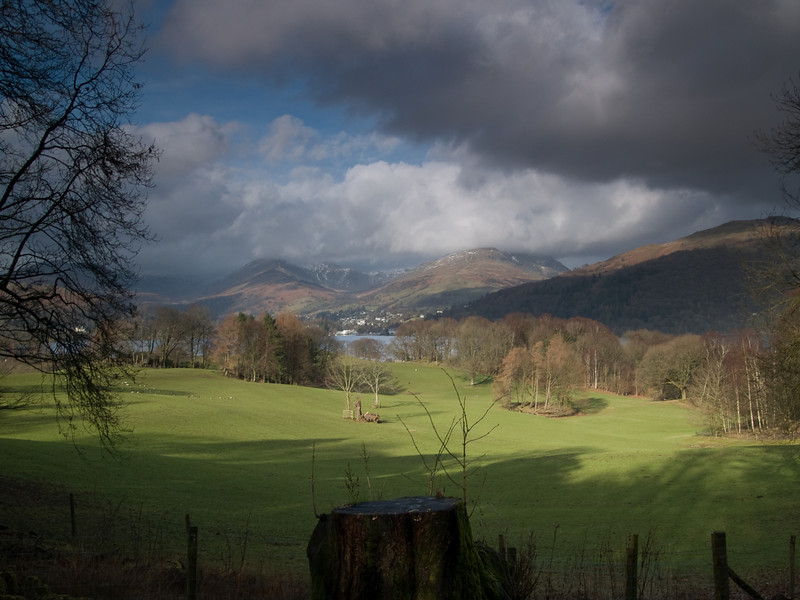 From Wrays Castle up the valley to Ambleside<br /> Shot with Olympus E500 and the Sigma 18-50mm lens