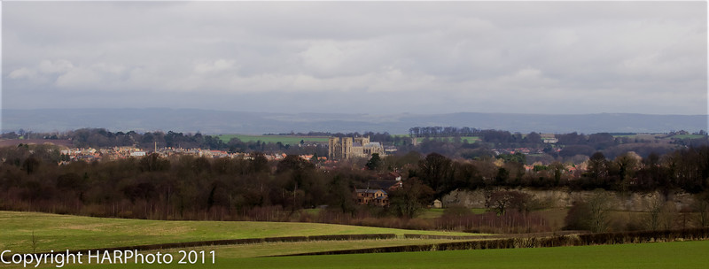 Ripon Cathedral from Studley Royal 27/02/2011