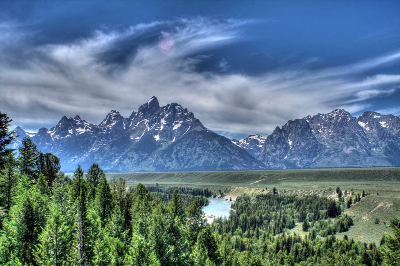 The Grand Tetons in HDR.  Easily the most photogenic mountain range that I have seen yet.