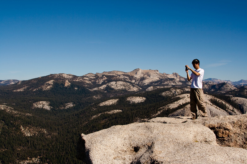 There was great reception on top of Half Dome, so Lekan decided to post a Facebook status update.