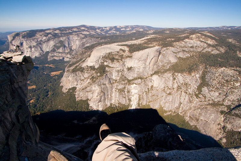 A peek over the edge of Half Dome