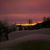 Kveldsstemning på hytta