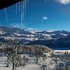 Utsikt frå hytta..06.02.2013