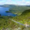 Utsikt frå toppen av røyrgato på Hodnaberg..
