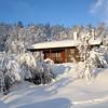 Hytta ein fin vinterdag..