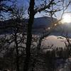 Vinterstemning og låg solover Hamlagrøvatnet..
