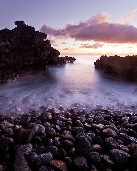 Cove at Sunset, Makaha, Oahu