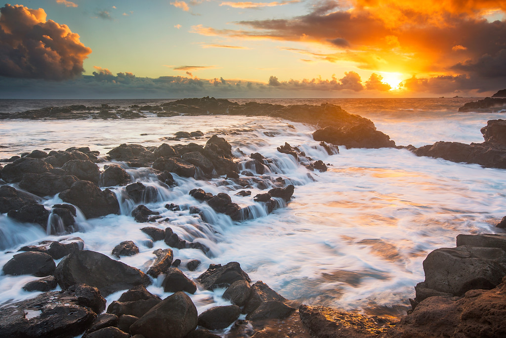 Tidal Pool Cascades, Northwest Maui