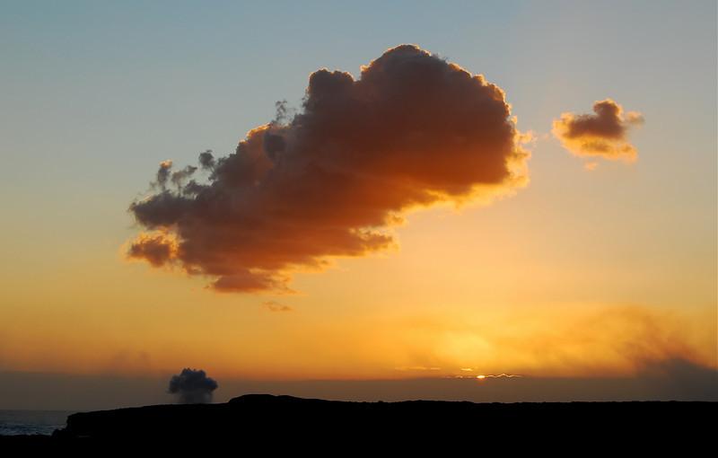 Sunset #1, Kalapana lava viewing site