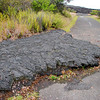 Lava flow on road