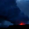 Lava enters the ocean at Kalapana