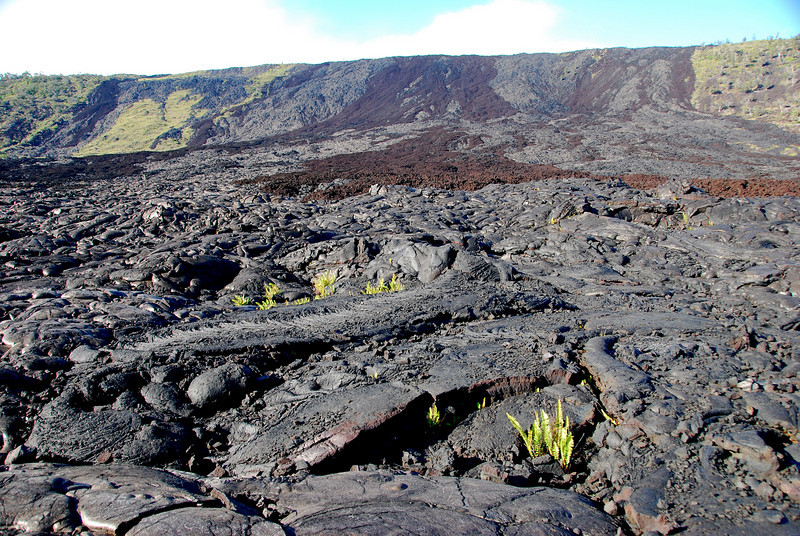 Lava flows, near Chain of Craters Road