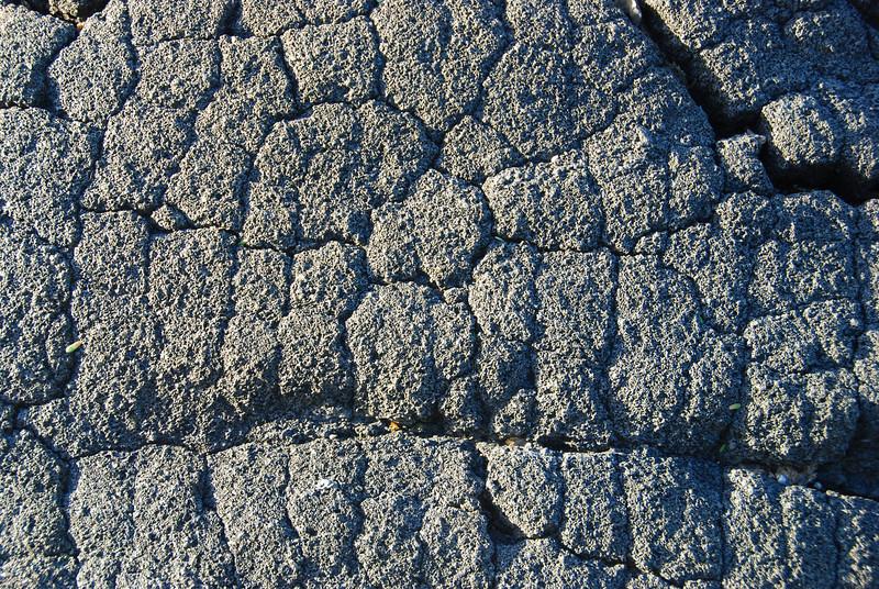 Fractures in basalt