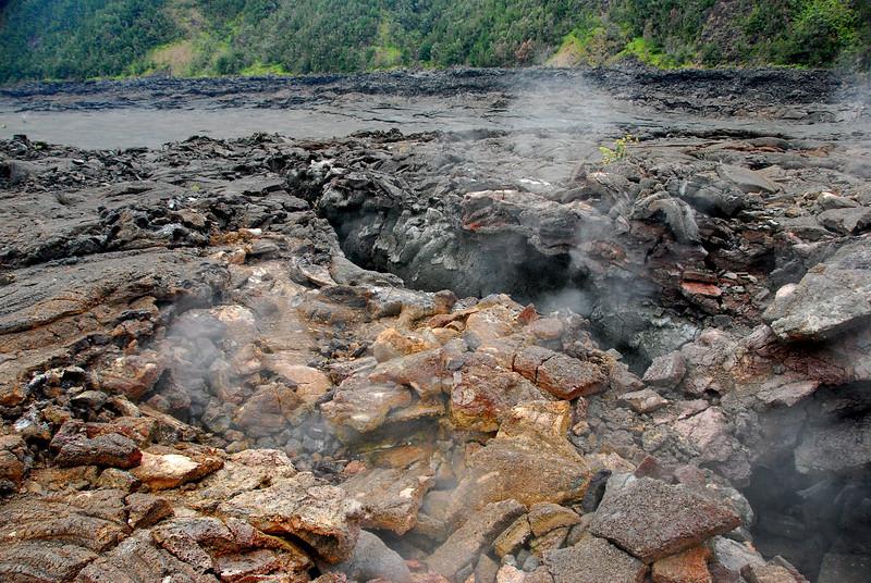 Steaming farctures, Kilauea Iki