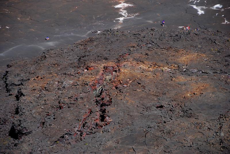 Fractures, Kilauea Iki crater floor