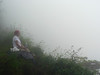 On a foggy hike. Here supposed to be a spectacular view down the backside of  famed Waipi'o  Valley.  This was the only disappointment on the whole trip.