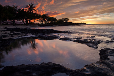 Sunset over rock pools  20090109_Abay_019