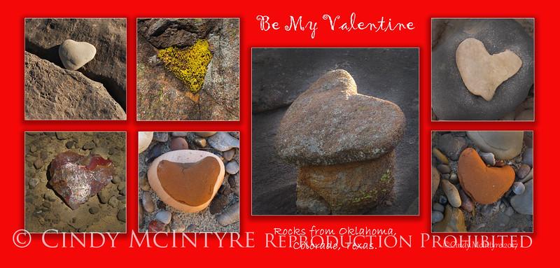 Valentine Heart Rocks Lg