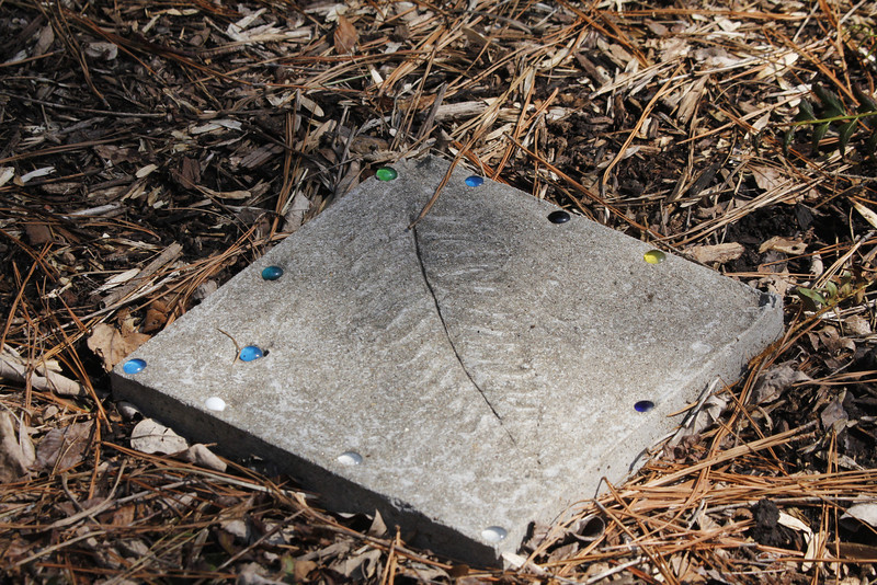 children's work - leaf imprints