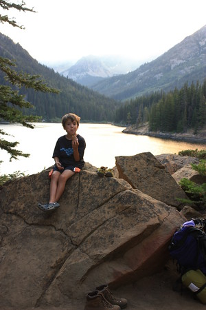 Henry's First Overnight Hike -- Eightmile Lake