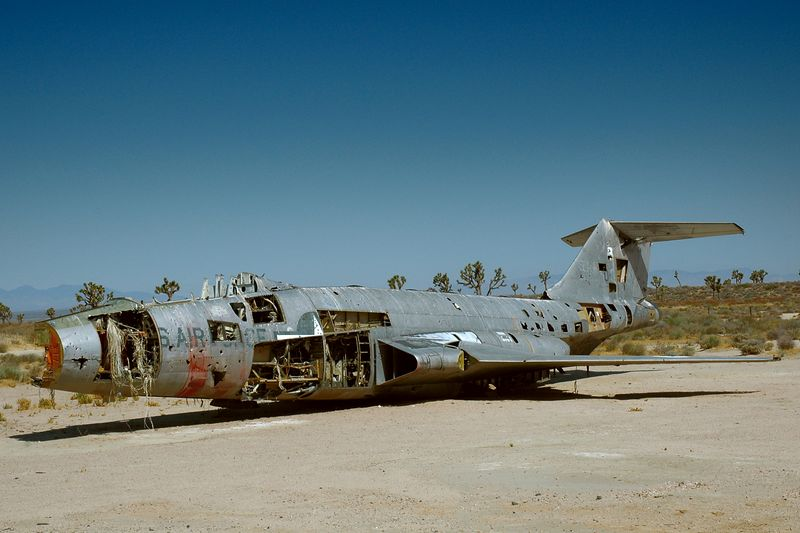 We happened upon this old jet while driving towards Edwards Air Force Base.