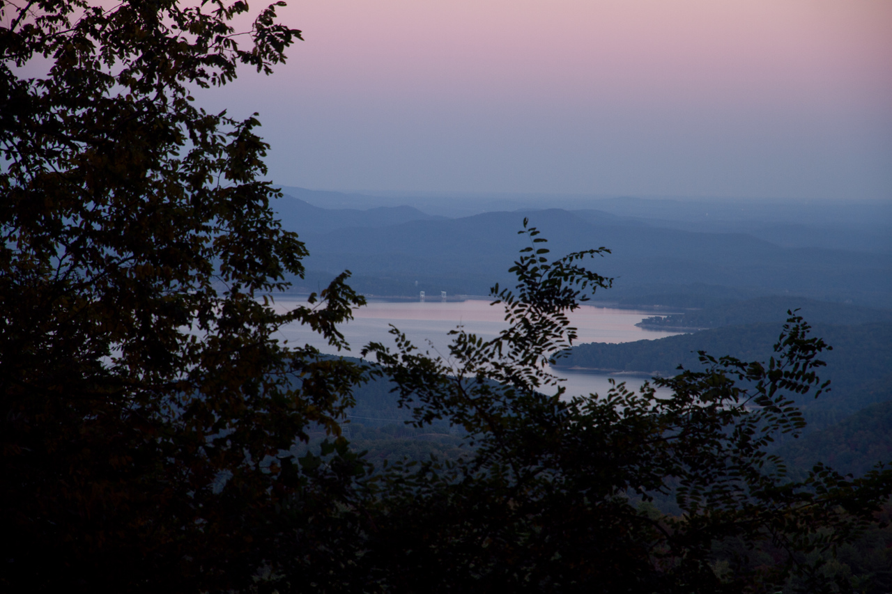 Lake Jocassee from Wiggington Overlook