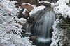 Waterfall after a snowstorm.  Yosemite National Park.