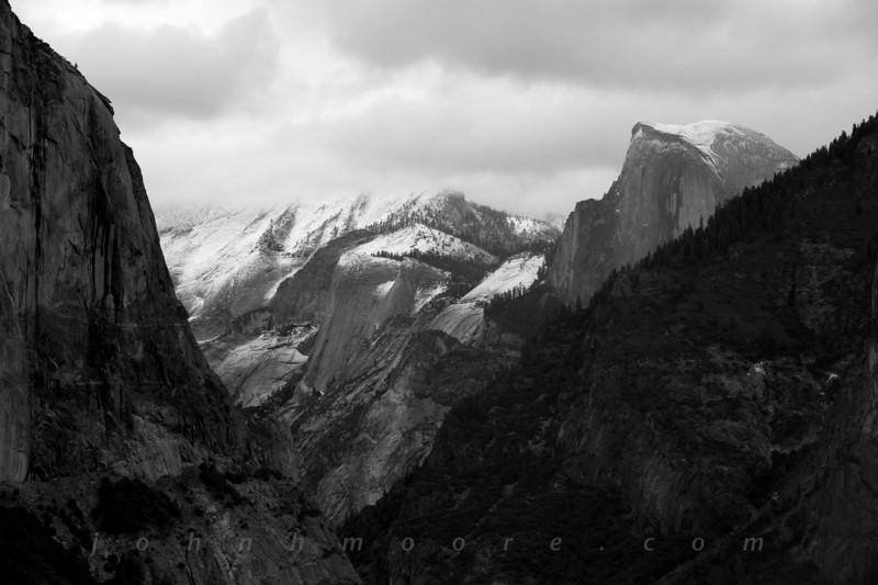 Half Dome after a snowfall -- Yosemite National Park