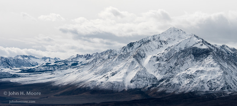 The Eastern Sierra as a winter storm clears