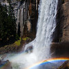 A rainbow and a half in the mist of Vernal Falls -- Yosemite National Park
