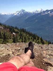 Climbed the 18k Elk to Thurston Mountain Trail in my Vibram FiveFingers shoes!