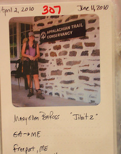 "The official picture (at the Appalachian Trail Convervancy) of ""Jibitz"" who hiked the AT from  4/10 to 9/10"