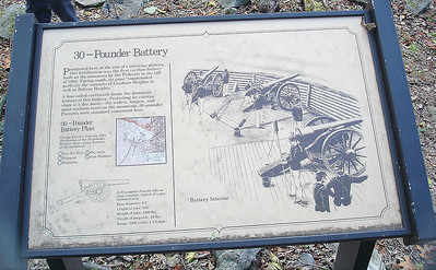 Site of the three 30 pound Parrot Rifles. With a range of 2200 yards, boats along the Potomac were at the mercy of these guns.