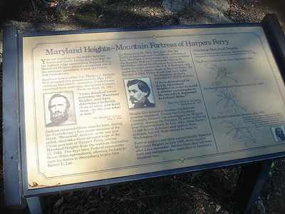 Plaque explaining the significance of Maryland Heights
