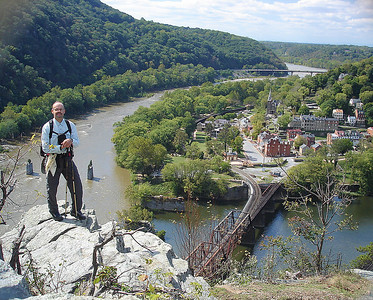 Mike standing on cliffs overlooking Harper Ferry, West Virginia