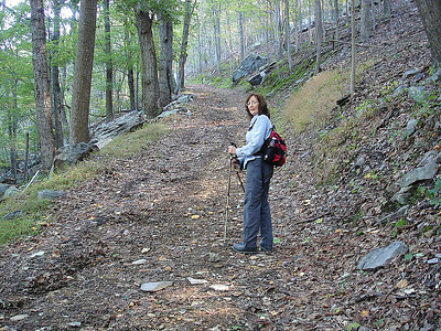 The trail at this point is very steep.