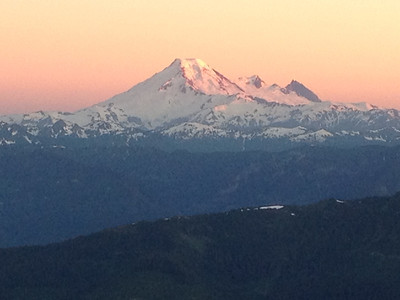 Mount Baker after the sun has set - hope to climb this in the next year or two!