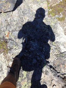 Cool shadow shot of the Mountain Goat!