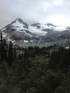 First view of Train Glacier