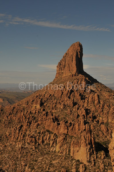 Weaver's Needle monolith, Superstition Wilderness Area, AZ.