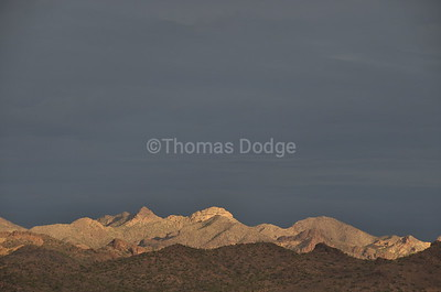 The Usery Mountains looking north from Apache Junction's Lost Dutchman State Park.