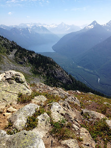Southeastern view to Chilliwack lake