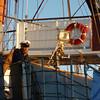 Skipstjórinn á Sedov var nokkuð virðulegur.