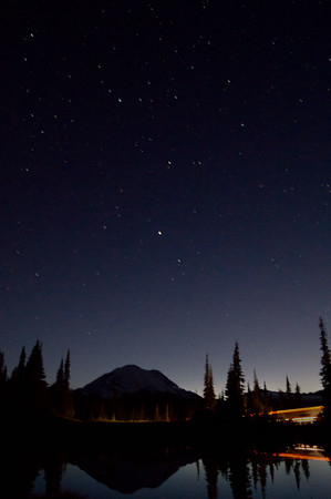Mount Rainier at twighlight, Upper Tipsoo Lake