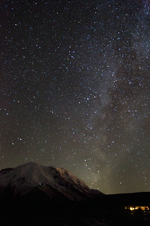 Milky Way Above Mount Rainier
