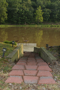 Panther Valley Ranch.  Steps down to the pond.